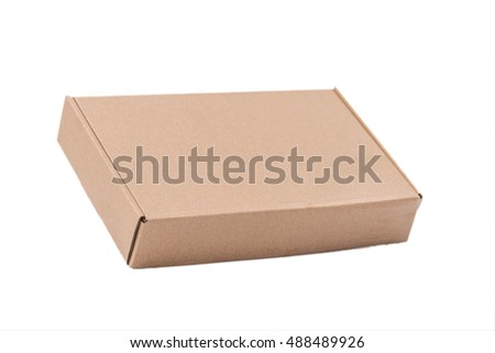 Cardboard box isolate on white background