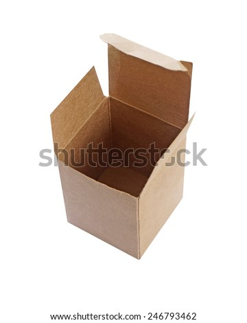 Cardboard box isolate on white background (with clipping path) - stock photo