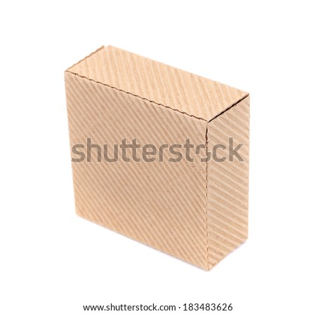 Cardboard box. Isolated on a white background.