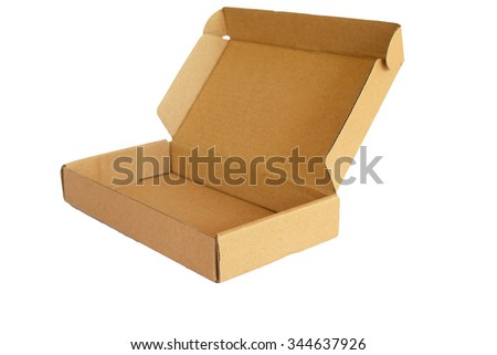 cardboard box isolated on the white background