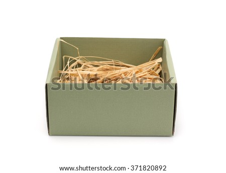 Cardboard box isolated on white. - stock photo