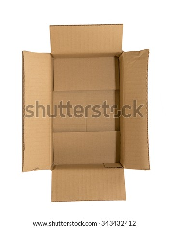 Cardboard box isolated over white background