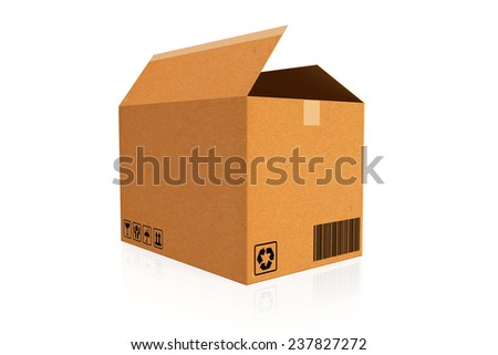 Cardboard boxes. Cargo, delivery and transportation logistics storage. - stock photo