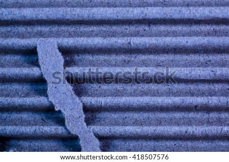 Cardboard Closeup - stock photo