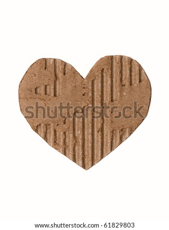 cardboard heart - stock photo