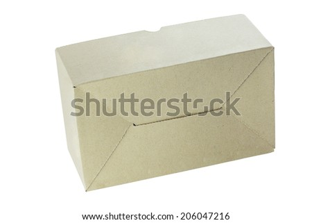 cardboard paper box isolated on white background with work path