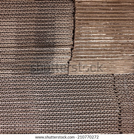 Cardboard stack background - stock photo