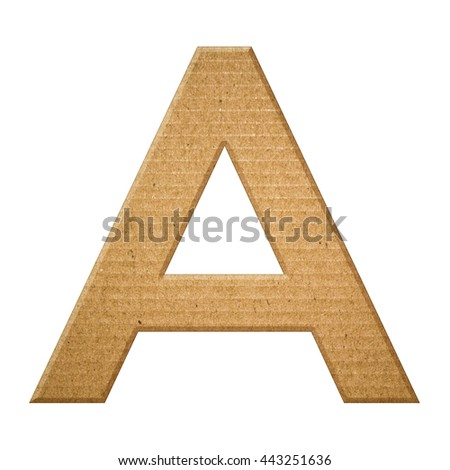 English alphabet stock images royalty free images for Alphabet letters cardboard