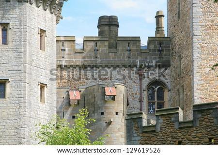 Cardiff castle - stock photo
