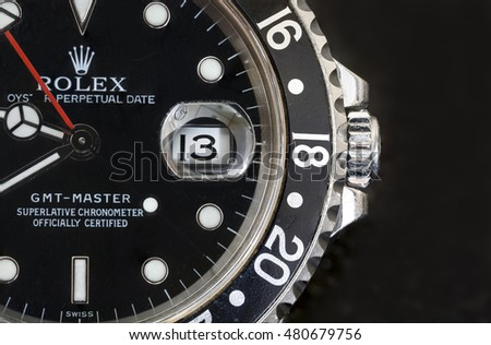 Cardiff, United Kingdom, September 9th, 2016 - Rolex GMT Master
