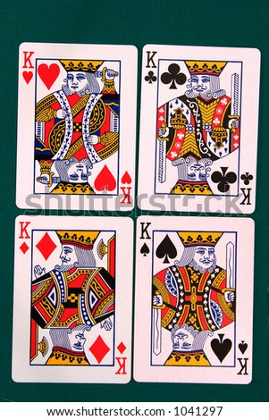 cards all 12 #king. - stock photo