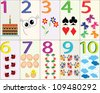 Cards with numbers - stock vector