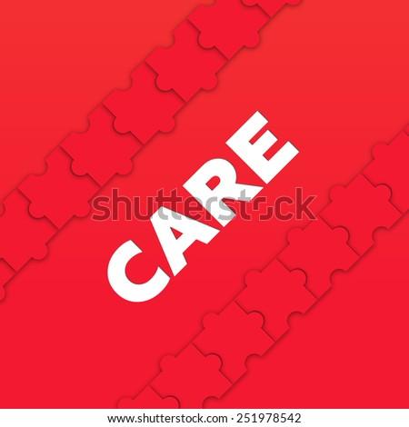 CARE - stock photo