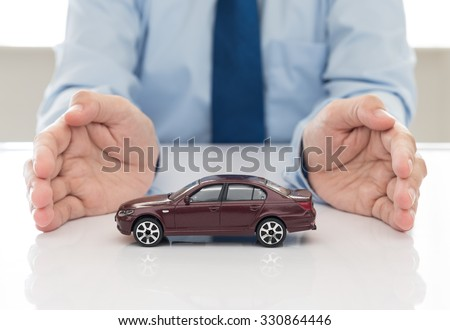 care and protection of car. insurance concept. - stock photo