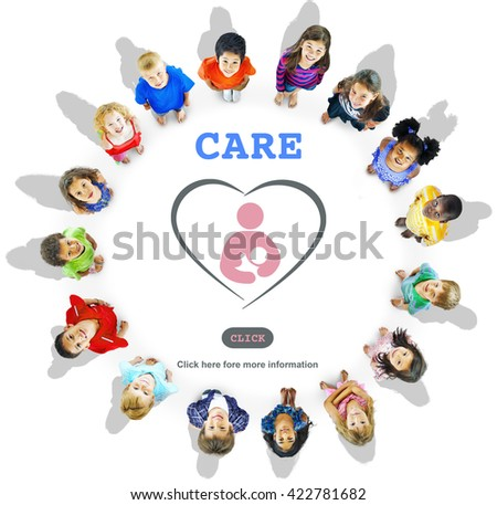 Care Childcare Love Baby Take Care Concept - stock photo