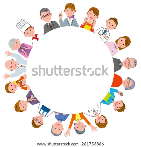 Care circle - stock photo