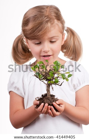Care over new life - stock photo