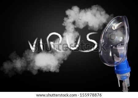 Care with aerosol and viruses - stock photo