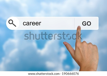 career button on search toolbar - stock photo