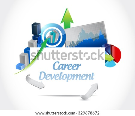 career development business graph sign concept illustration design graphic