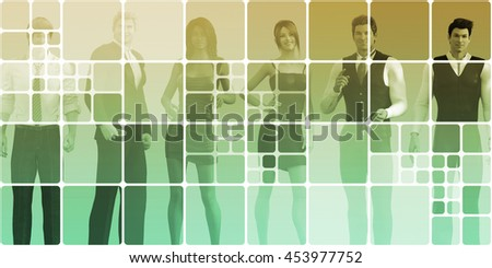 Career Development with a Business Team for Training 3D Render Illustration - stock photo