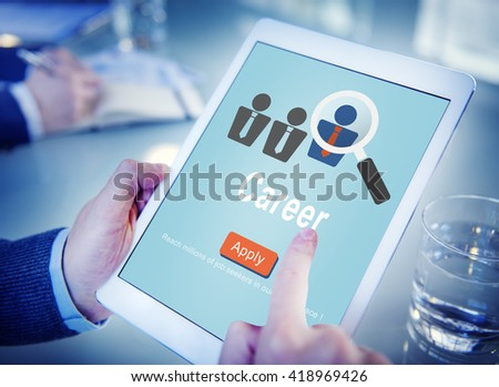 Career Expertise Hiring Professional Occupation Concept - stock photo