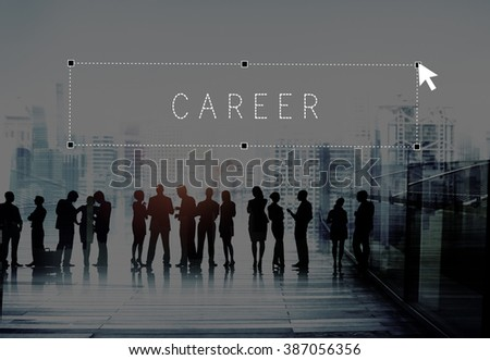 Career Occupation Human Resources Employment Recruitment Concept - stock photo