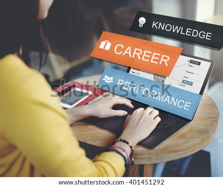 Career Performance Knowledge Word Concept - stock photo