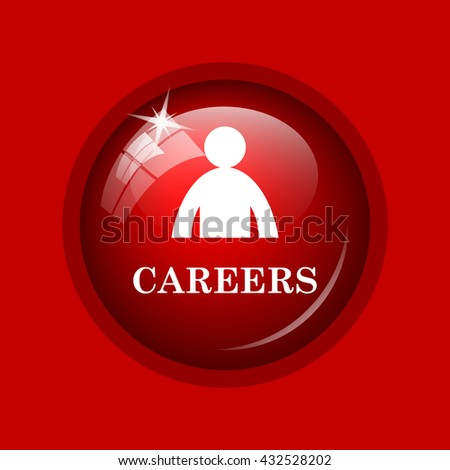 Careers icon. Internet button on red background. - stock photo