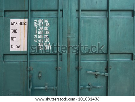 cargo container box background - stock photo
