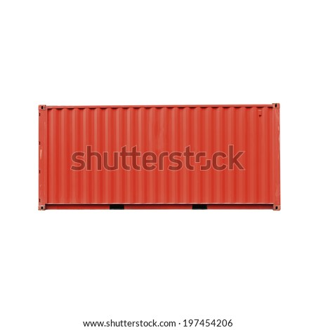 cargo container front side  - stock photo