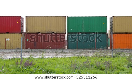 Cargo Containers for International Shipping Trade
