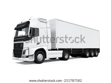 Cargo Delivery Truck - stock photo