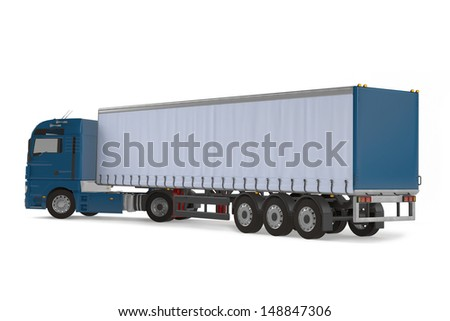 Cargo delivery vehicle truck back - stock photo