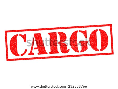 CARGO red Rubber Stamp over a white background. - stock photo
