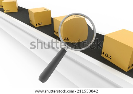 Cargo Searching  - stock photo