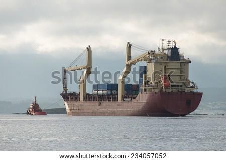 cargo ship - stock photo