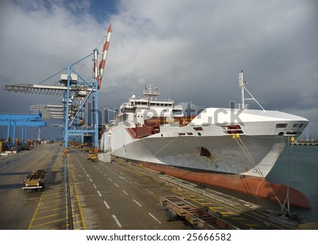 cargo ship at dock