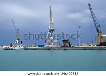 Cargo terminal - stock photo