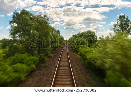 Cargo trains in old train depot eaten by the rust - stock photo