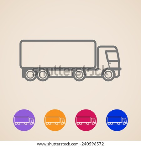 cargo truck icons  - stock photo