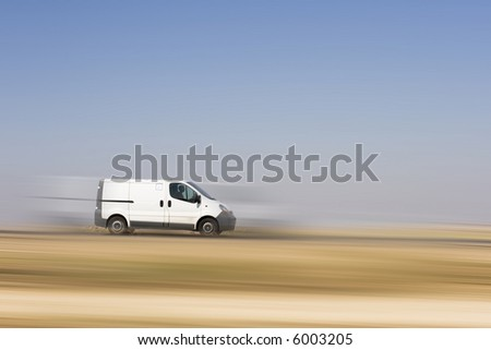 Cargo van - stock photo