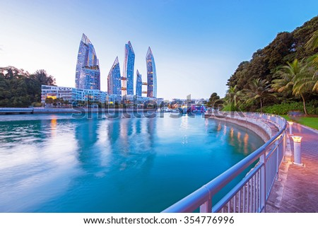 Caribbean at keppel bay. It's luxury residential in Singapore - stock photo