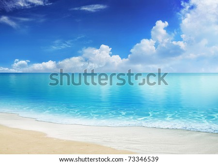 caribbean beach - stock photo