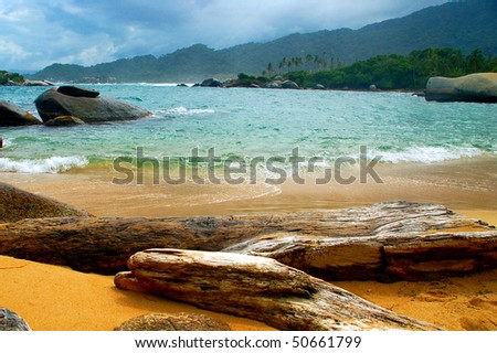 Caribbean Dream beach - stock photo