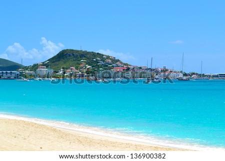 Caribbean Island Beach - stock photo