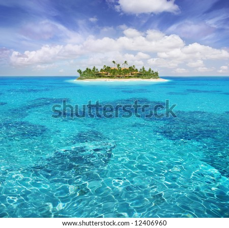 Caribbean paradise - stock photo