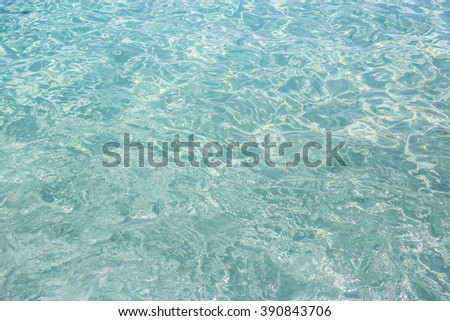 Caribbean turquoise water beach reflection aqua perspective background