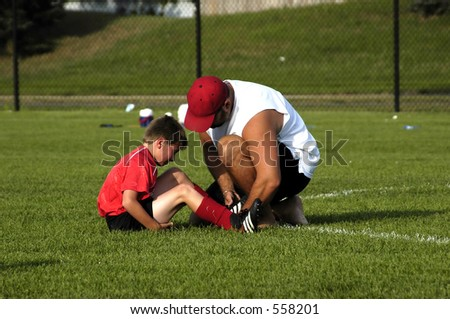 caring coach - stock photo