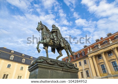 Carl-August Monument (Weimar) - stock photo